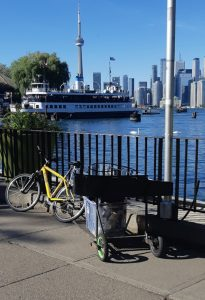 How to take a grand piano on the ferry behind a bicycle